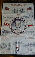 Vtg cotton tea towel 50th Liberation Anniversary Netherlands war cemeteries