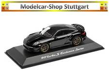 Porsche 911 Turbo S Exclusivo Series Negro 2018 Spark 1:43 WAP0209050J Nuevo