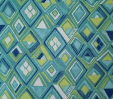Garden Party BTY Katy Tanis Blend Fabrics Abstract Diamonds Blue Green