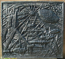Plaque de cheminée ex 4 /25 L'homme du progrès William Schiffer Monnaie de Paris