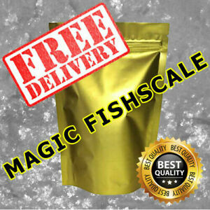 BORIC MAGIC FISHSCALE FLAKE OILY SHINY WHITE FLAKES 99.9% FAST & FREE DELIVERY