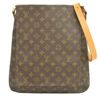 Louis Vuitton Musette M51256 Monogram Shoulder Crossbody Flap Hand Bag Brown LV