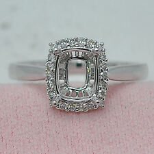 6x6mm Princess Cut 14K 585 White Gold Semi Mount Diamond Wedding Ring