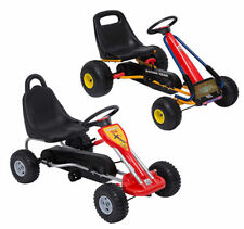 HOMCOM Deluxe Kids Ride Pedal Go Kart Gokart Adjustable Seats Karting