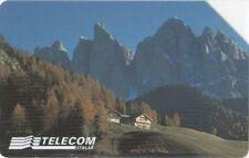 G AA 64 C&C 2728 SCHEDA TELEFONICA USATA DOLOMITI CHALET