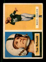 1957 Topps #124 Tommy McDonald VGEX RC Rookie Eagles DP 400797