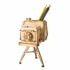 Camera Penholder Home Decor Figurine DIY Wooden Miniature Gift Model Accessories