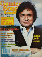 Country Song Roundup Aug 1981 Vtg Music Magazine Johnny Cash No Label EX