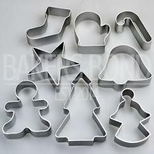 Navidad Set De 8 Metal Cortadores De Galletas De Star árbol Bell Angel Candy Cane de Galleta