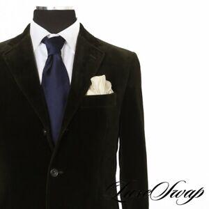 #1 MENSWEAR Hackett London Bottle Green Velvet LOUCHE Smoking Suit 40 R NR