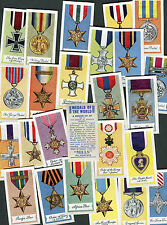 "AMALGAMATED TOBACCO 1959 SET OF 25 ""MEDALS OF THE WORLD"" CIGARETTE CARDS"