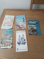 job lot vintage Italian maps & guides x 5