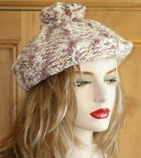 BERET HAT KANGOL PINK & CREAM WOOL MIX ONE SIZE LADIES FASHION CAP BNWT