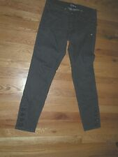 Anlo dark gray stretch jeans 29 low rise slim stylish ankle buttons 30 inseam