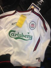 LIVERPOOL 2001 away SHIRTS IN SMALL BOYS AT £10 EACH BNIN PACKET long sleeve