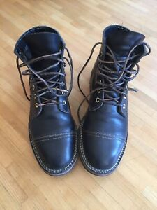 Truman Boot Co.  Nero Veg. Tanned  Leather. Size US8,5.