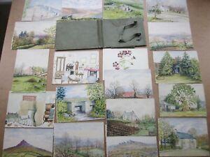 Antique Watercolour Paintings c.1930 - Quantity of 19 Various CORNWALL Scenes