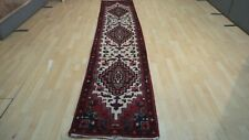 """Superb Long HALL RUNNER CARPET RUG HAND MADE Traditional WOOL 11ft 6"""" x 2ft 4"""""""