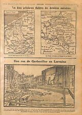 Carte Nord France Belgique Pologne Poland Galicia/Gerbeviller Lorraine 1914 WWI