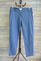NWT Fresh Produce - Dusty Blue straight STRETCH cotton blend chino pants size 14