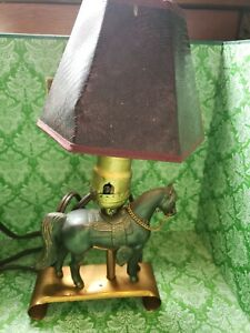 Vintage Rare Horse Table Lamp