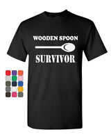 Wooden Spoon Survivor T-Shirt Funny College Humor Tee Shirt