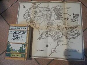 """"""" IL SIGNORE DEGLI ANELLI """" J.R.R.TOLKIEN LA TRILOGIA RUSCONI 1990 con MAPPA"""