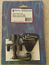PONTOON BOAT BLACK GATE LATCH, UNIVERSAL LEFT OR RIGHT, TH MARINE BRAND, GL-1