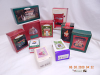 HALLMARK BOXES-ALL EMPTY-MIXED LOT OF 10 BOXES-USED/DISTRESSED CONDITION-AS IS!