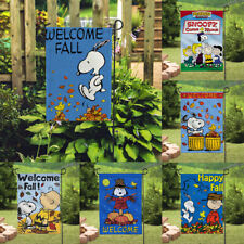 Decor Cute Snoopy Dog Signs Outdoor Garden Flags Double Sided Print Banner/Flag