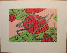 GOETZ Henri - Gravure au carborundum HC etching farblitografie *