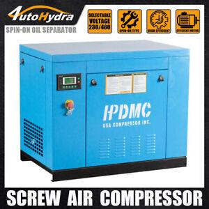 125 psi Maximum Pressure 7.5 HP Rated Horsepower Rotary Screw Air Compressor