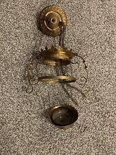 New ListingAntique Vintage Kerosene/Oil Hanging Hall Lamp Brass Fitting, No Shade.