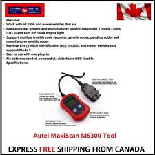 Autel MaxiScan MS300 CAN OBD2 Diagnostic Car Scan Tool Code Scanner Check Engine