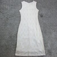Sharagano Women's Dress White & Gold Size 4 HW9S17RX3 $99