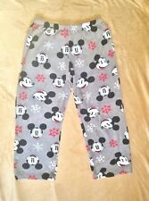 DISNEY Lounging/Sleepwear GRAY Soft Pants UNISEX MICKEY MOUSE Holiday Style Med