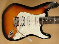 Haze E-211BS Strat Electric Guitar SSH Sunburst + Gig Bag + Full Kit