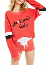 Wildfox Womens WFL2093D9 Sweatshirt Relaxed Red Size L