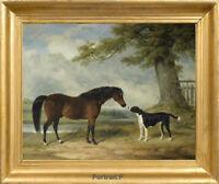 Old Master Art Portrait Horse Dog Landscape Animal Oil Painting Unframed 30x40