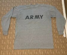 ARMY LONG SLEEVE GRAY T- SHIRT SIZE LARGE.