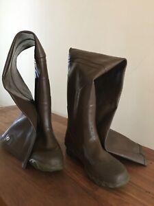 Rubber Wader Boots Men's size 7 Steel Shank