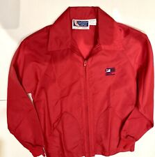 Nabisco Dinah Shore Golf Tournament Red Windbreaker Jacket Size Small Vintage