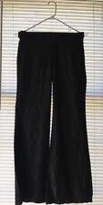 LEVEL 99 Black Cotton Lyocell Wide Leg Pants Size 26
