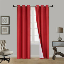 1 PANEL SOLID GROMMET WINDOW CURTAIN FOAM LINED BLACKOUT THERMAL TREATMENT K32