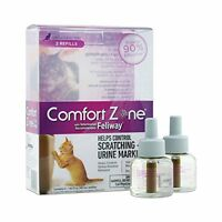 NEW Comfort Zone Feliway Diffuser Refill 2 Pack For Cat Calming  2 Pack