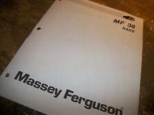 "Massey ferguson 38 ""Rake"" Parts List Original Copy!"