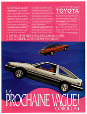 1984 TOYOTA Corolla SR5 Vintage Original Print AD Silver car photo French Canada