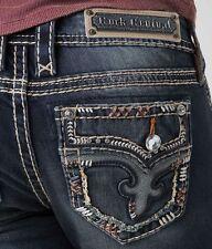NWT New Womens Rock Revival Betty Boot Bootcut Denim Jeans 28x34 Long