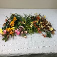 Mix Lot of Fall Flowers Floral Vintage Millinery Flower Stems Greenery