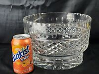 "HUGE Vintage Lead Crystal Centerpiece Bowl of 11lbs massive 9.5"" across 7""tall"